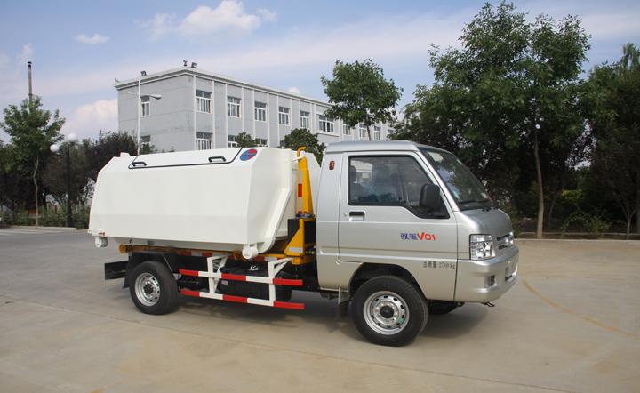 3方驭菱底盘车厢可卸垃圾车QTH5032ZXX