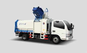 9方东风侧装挂桶垃圾车QTH5078ZZZ(带推板)