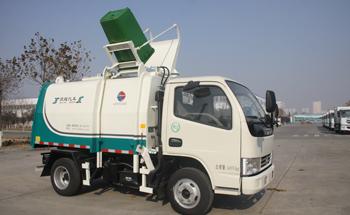 东风5方侧装挂桶垃圾车QTH5043ZZZ