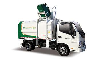 国六奥铃7方侧装挂桶垃圾车QTH5047ZZZ